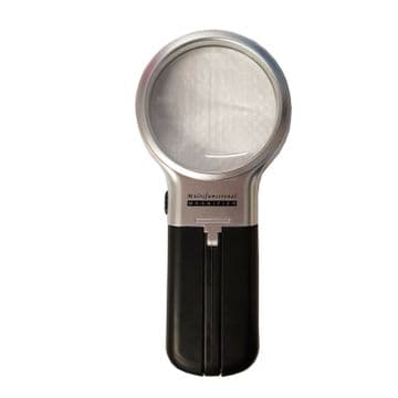 MULTI FUNCTIONAL LIGHT UP MAGNIFYING GLASS folding free standing magnifier